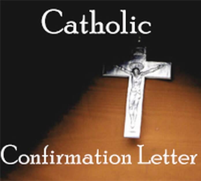 Catholic Confirmation Letter sample