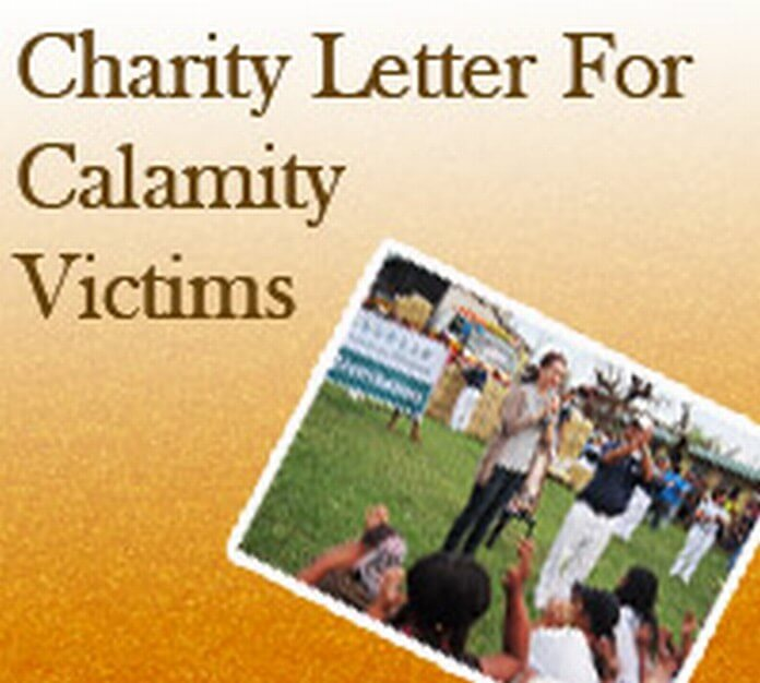 Sample Charity Letter for Calamity Victims