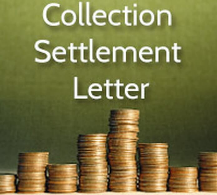 Collection Settlement Letter sample