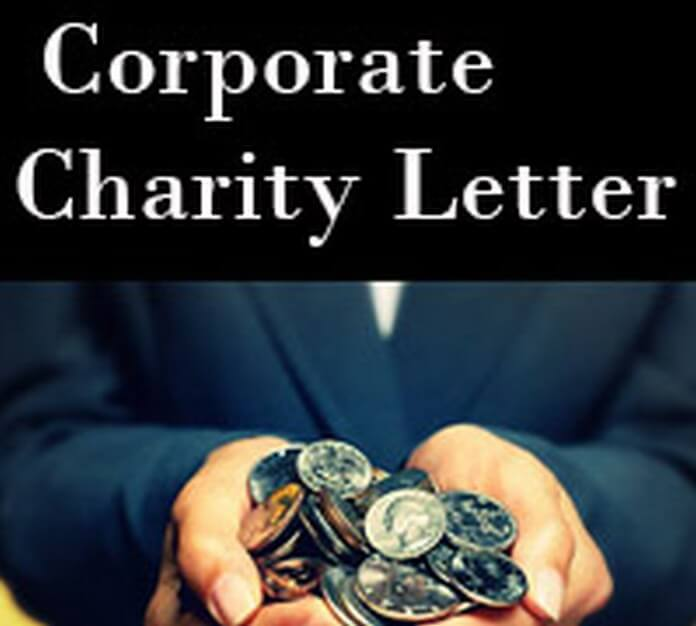 Corporate Charity Letter template