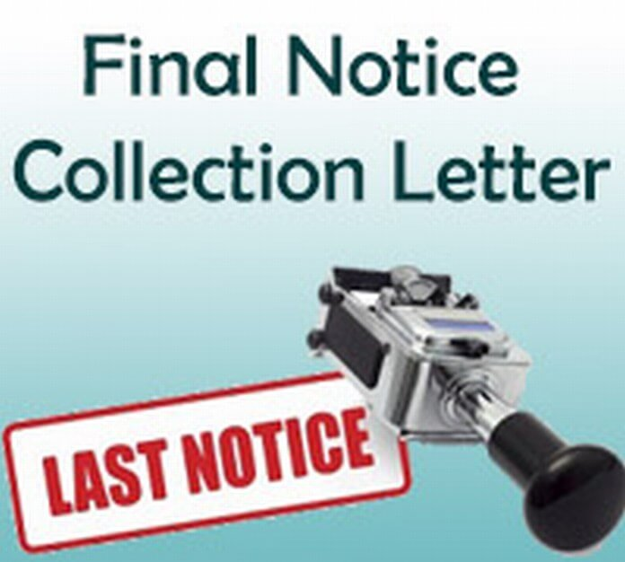 Final Notice Collection Letter Example