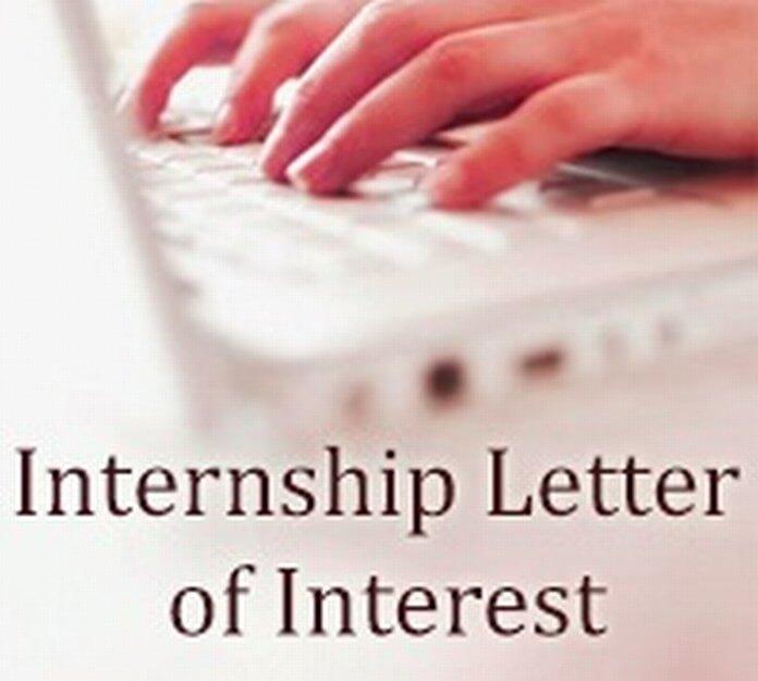 Internship Letter of Interest