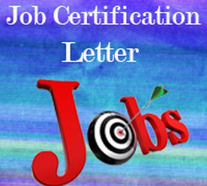 Job Certification Letter