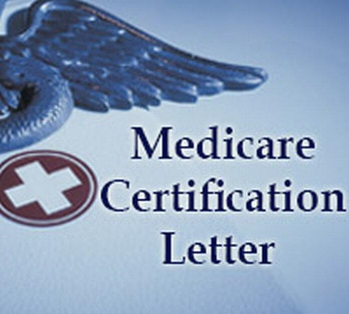 best medicare certification letter