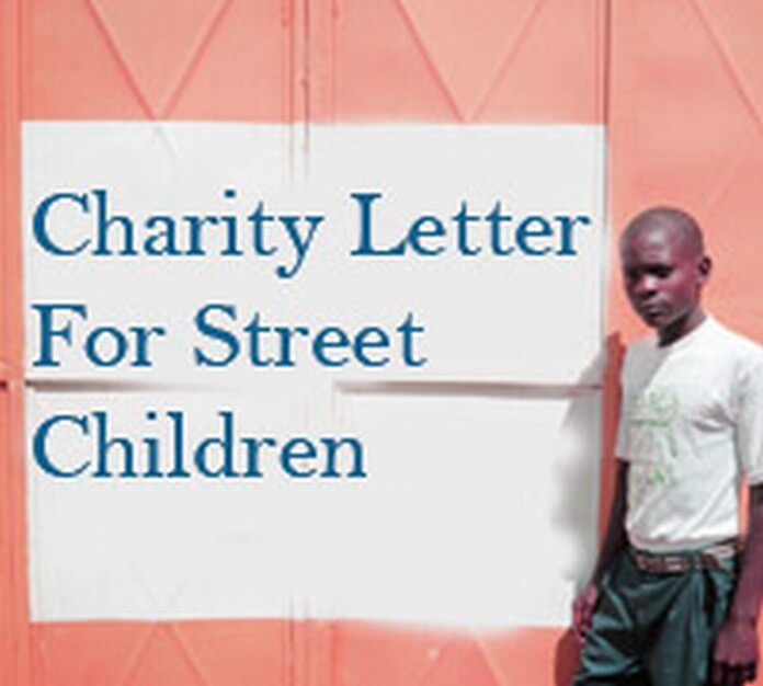 Charity Letter for Street Children