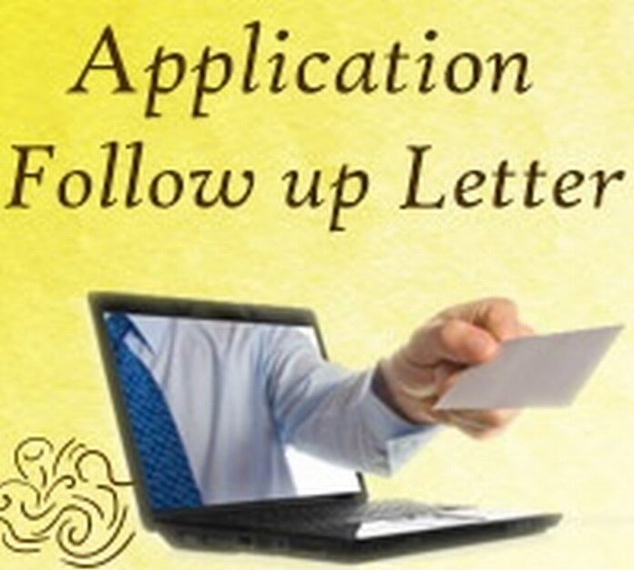 Application Follow up Letter Example