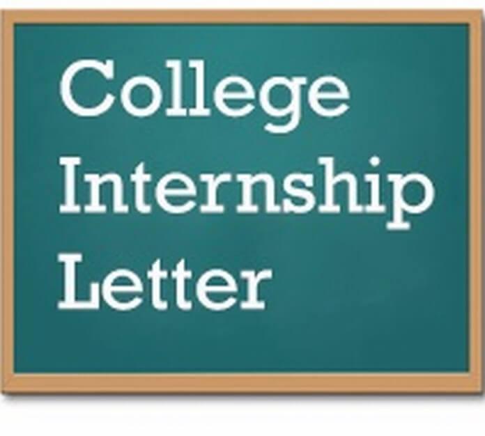 best College Internship Letter