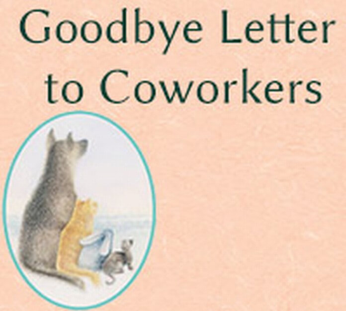 Sample Goodbye Letter to Coworkers