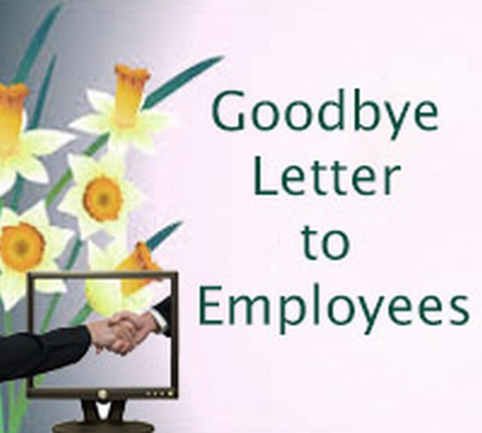 Goodbye Letter to Employees format