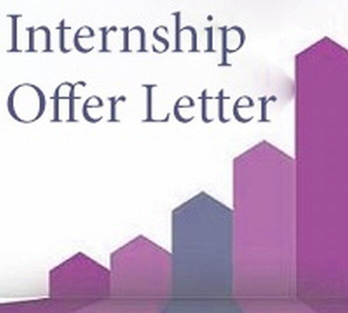Internship Offer Letter format