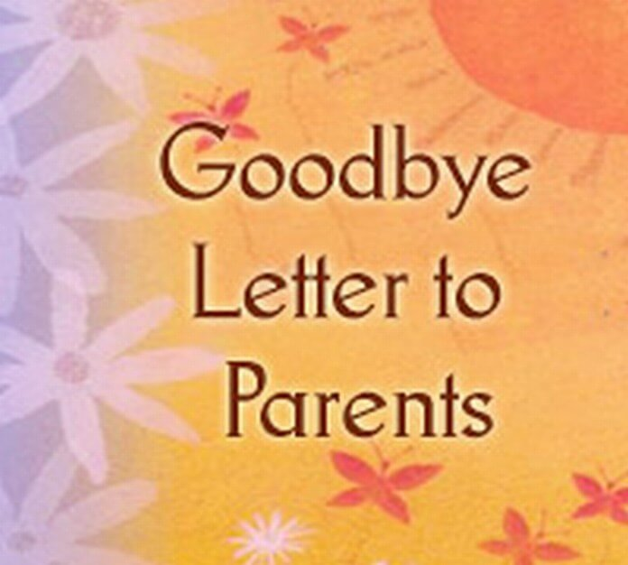 Goodbye Letter to Parents