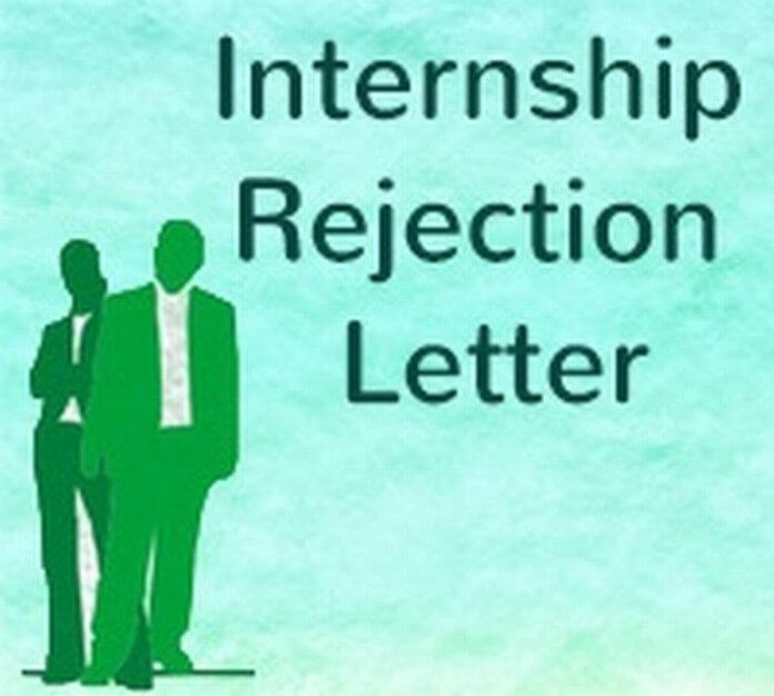 Sample Internship Rejection Letter