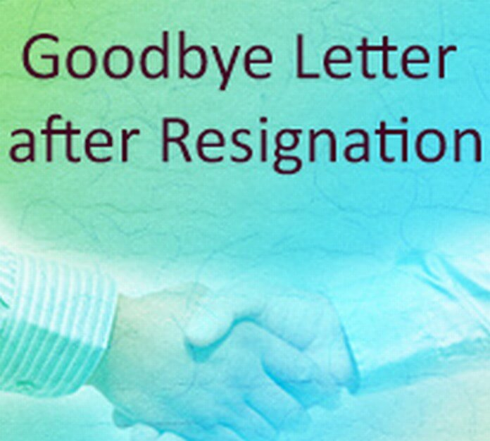 Goodbye Letter after Resignation