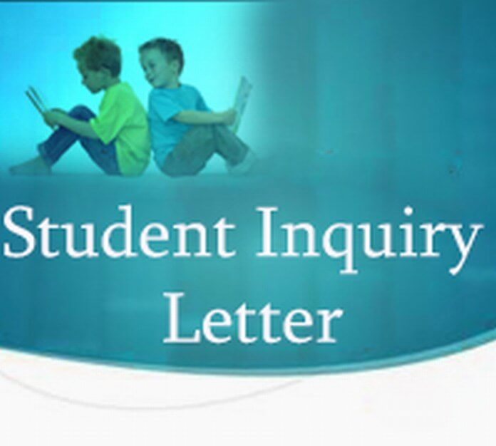 Student Inquiry Letter
