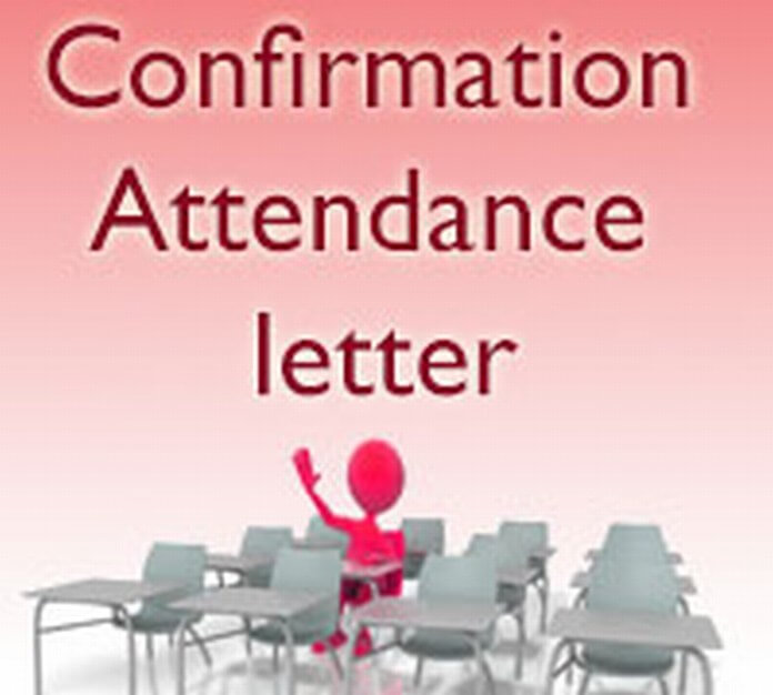Confirmation Attendance Letter