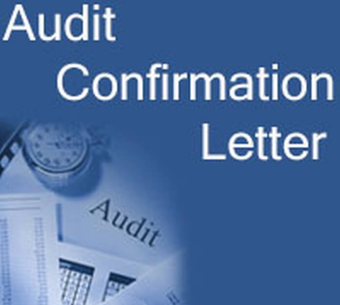 Audit Confirmation Letter Example