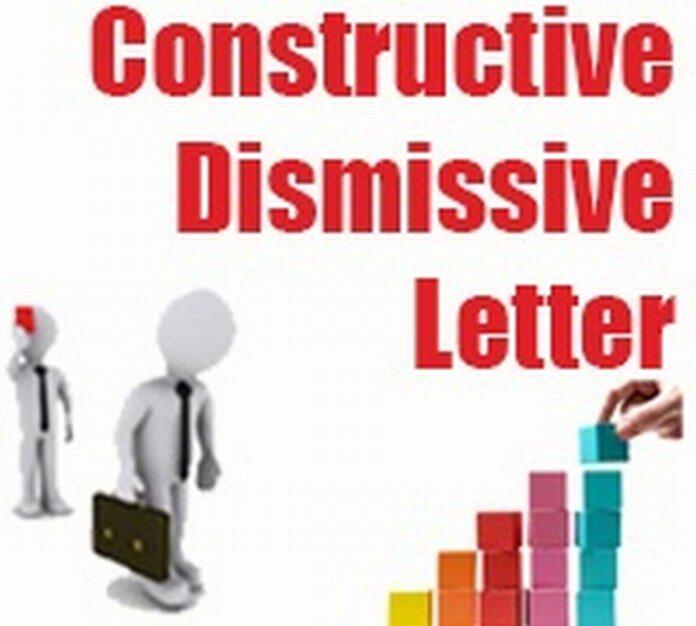 Constructive Dismissal Letter