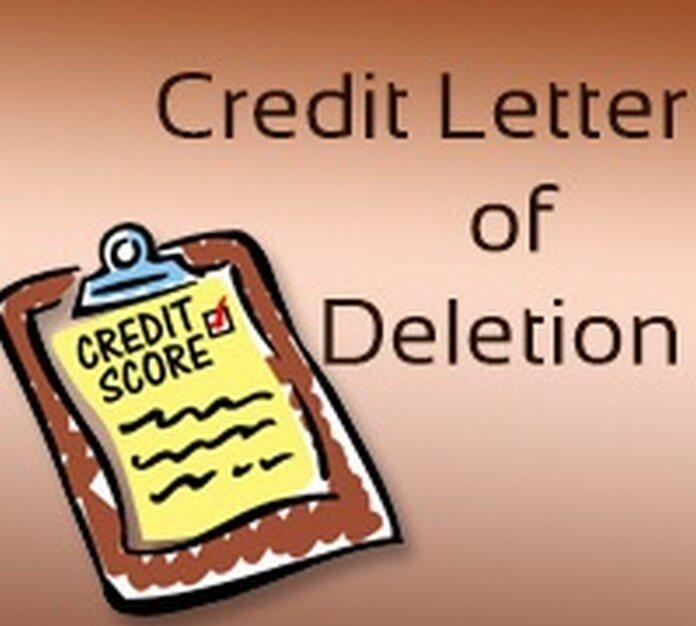 Credit Deletion Letter format