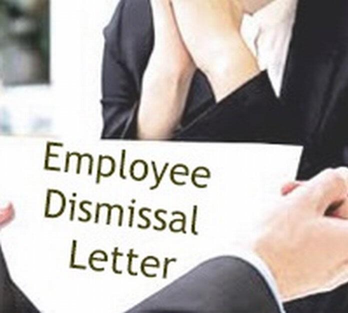 Employee Dismissal Letter format