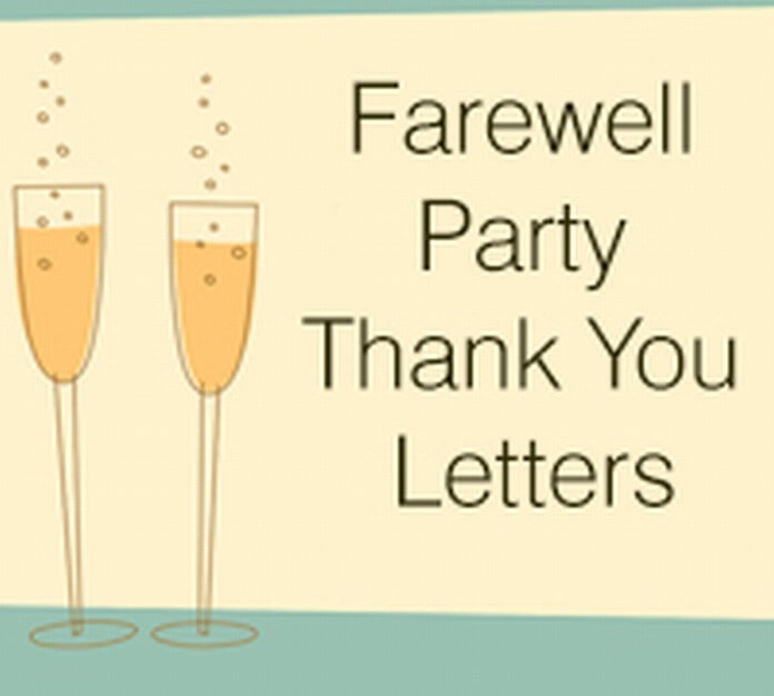 Farewell Party Thank you Letter