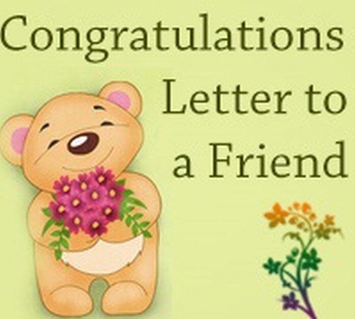 Congratulation Letter to Friend