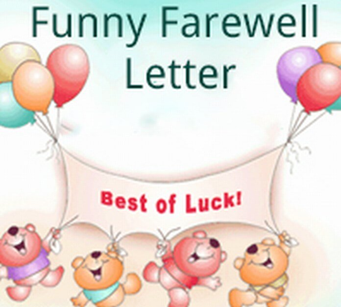 Funny Farewell Letter