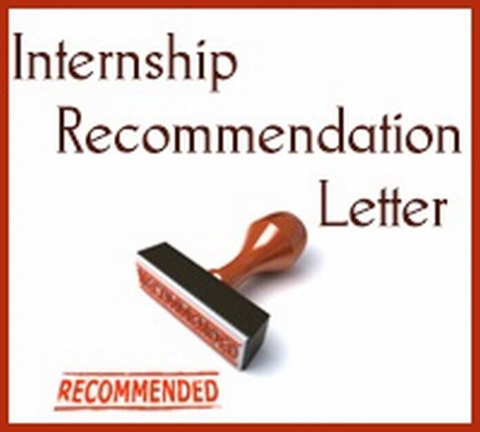 Internship Recommendation Letter sample