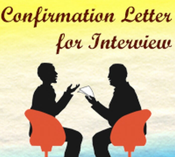 Confirmation Letter for Interview