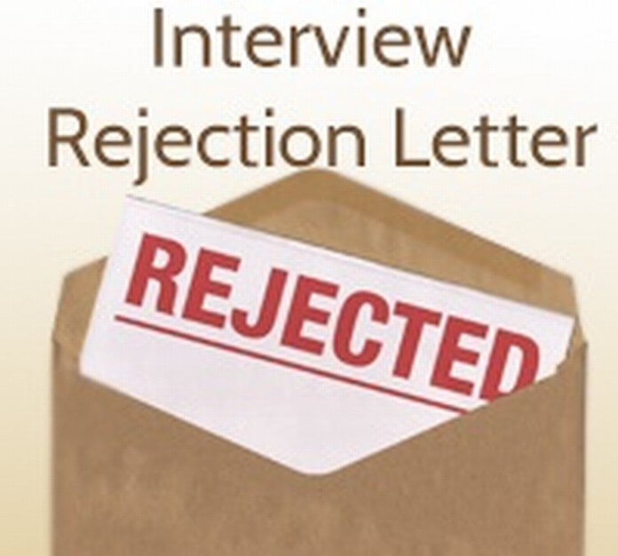 Rejection Interview Letter