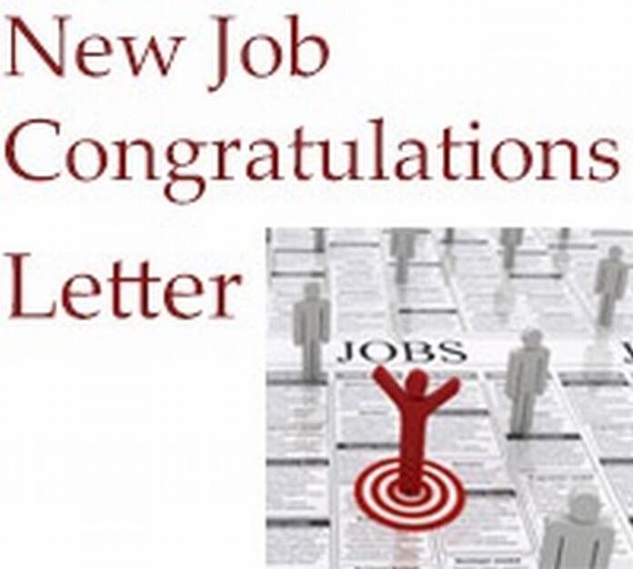 New Job Congratulations Letter Format