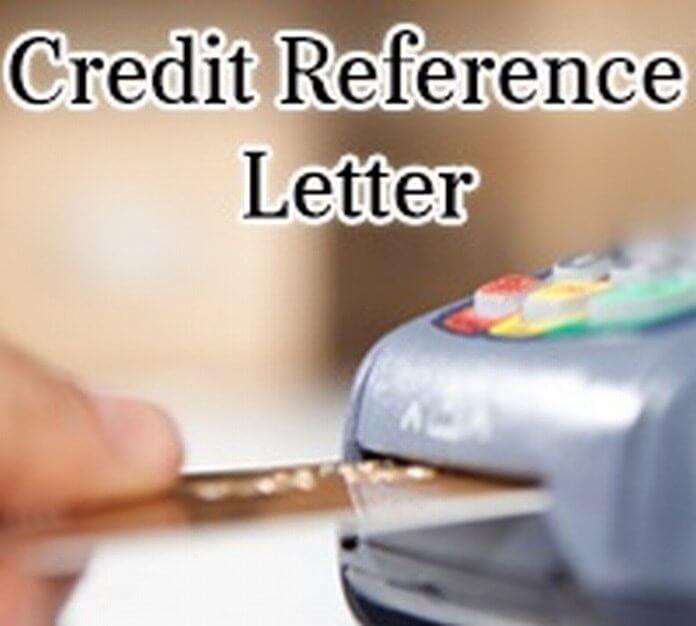 Credit Reference Letter sample