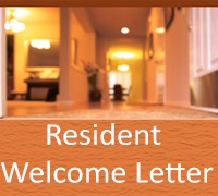 Resident Welcome Letter Format