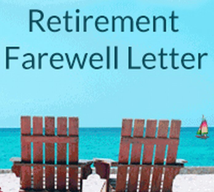 Retirement Farewell Letter