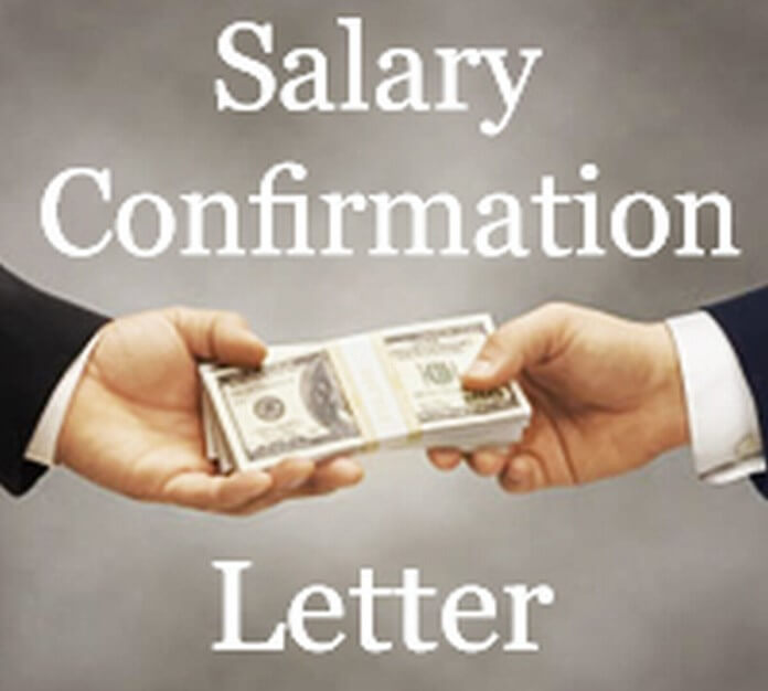 Salary Confirmation Letter format