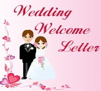 Wedding Welcome Letter Example