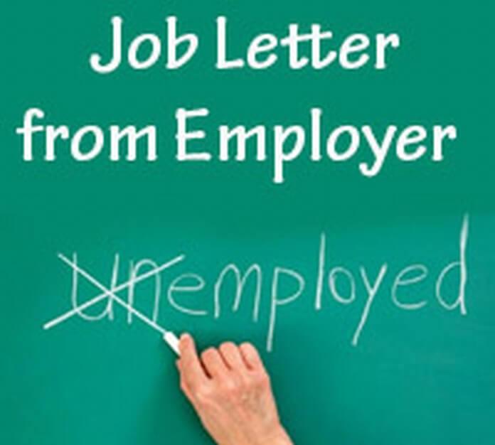 Job Letter from Employer