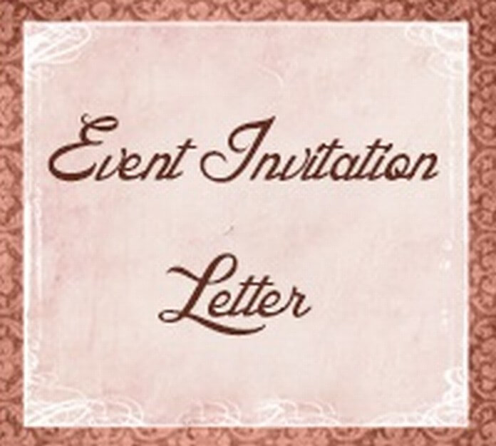 Event Invitation Letter sample