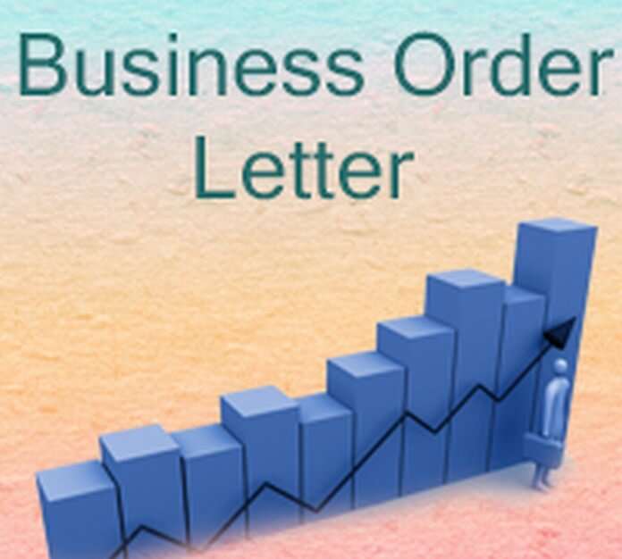 Sample Business Order Letter
