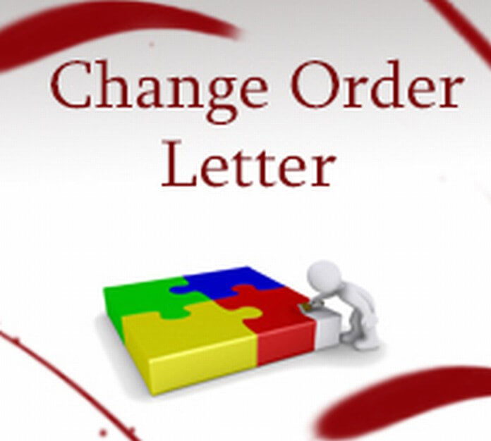 Sample Change Order Letter