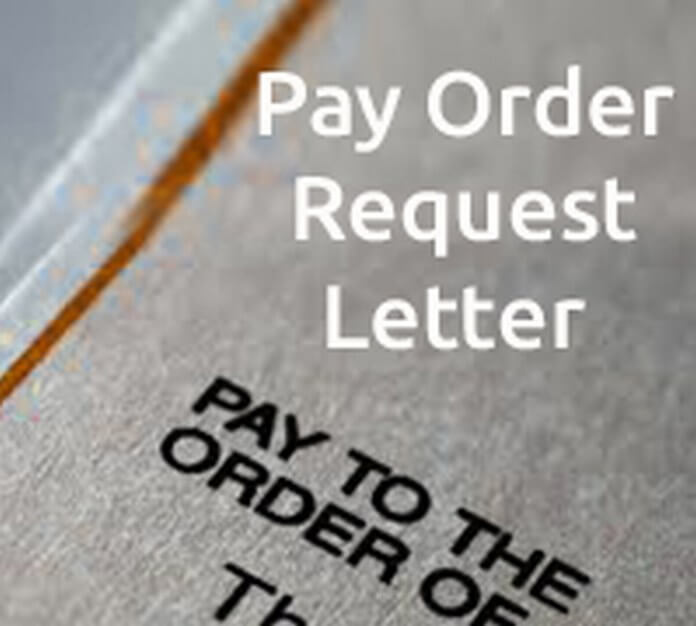 Pay Order Request Letter