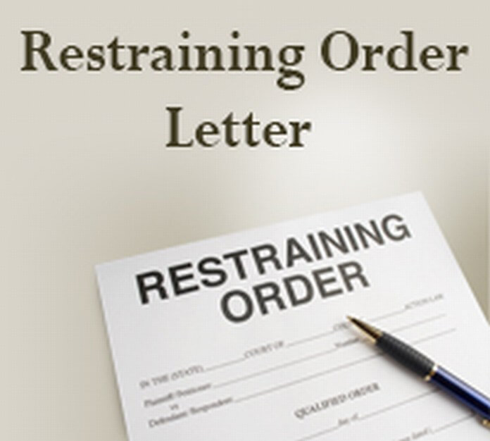 Restraining Order Letter