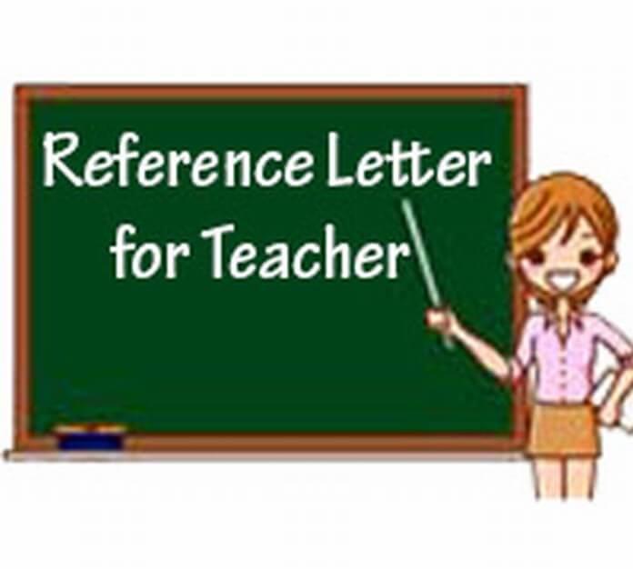 Reference Letter for Teacher