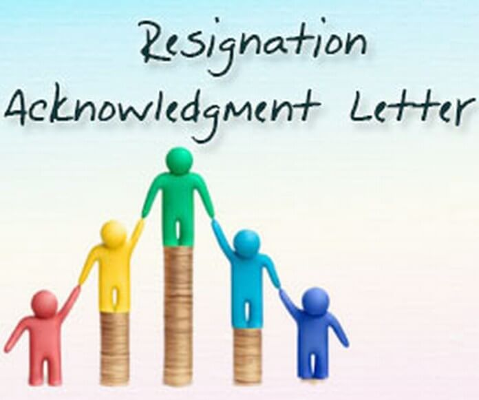 Resignation Acknowledgment Letter
