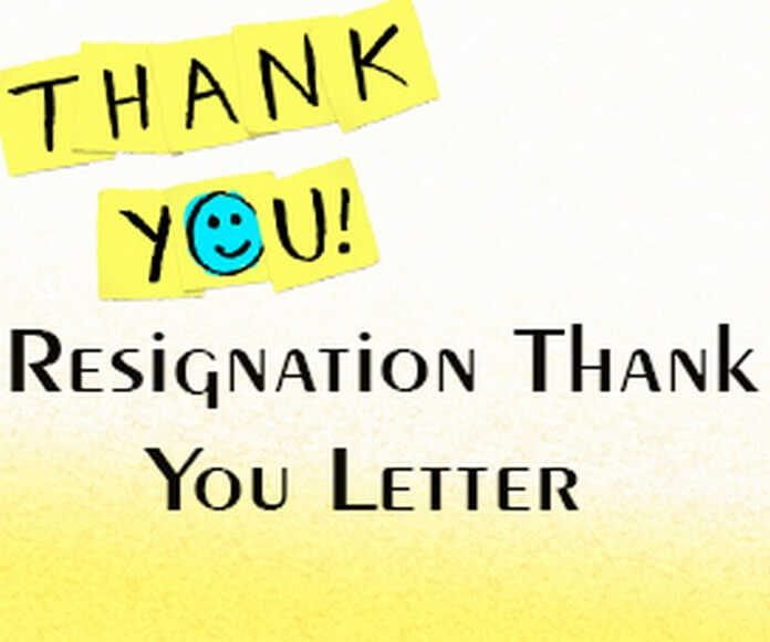 Resignation Thank You Letter