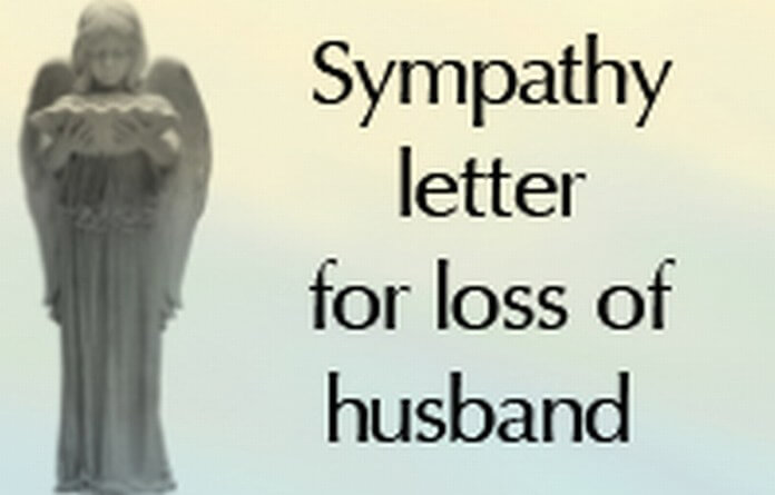 Sympathy Letter for Loss of Husband