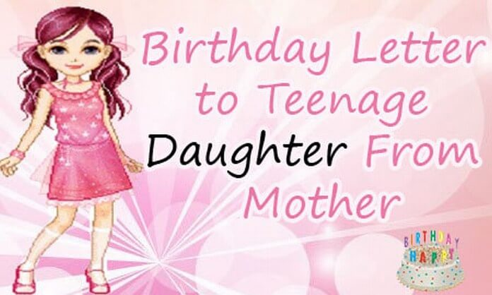 Birthday letter to daughter from mother