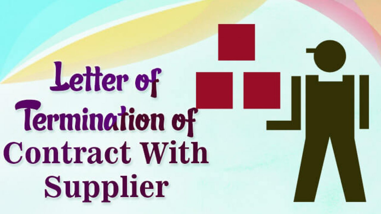Format For Business Contract Termination Letter With Supplier Free Letters