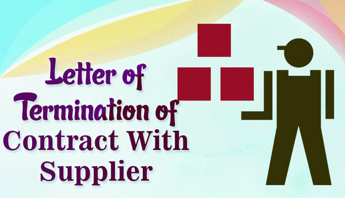 Contract Termination Letter With Supplier