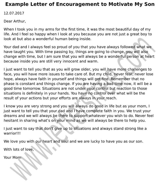 Free letters page 5 of 136 exclusive collection of free sample sample letter of encouragement to motivate my son spiritdancerdesigns Images