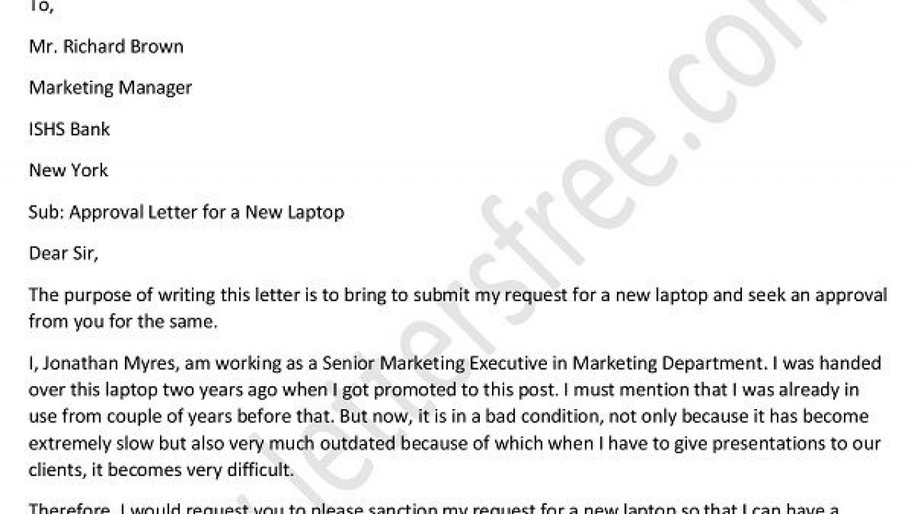 Approval Letter Format to Boss for Payment - Approval Letter